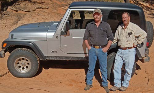 Ken and Bob helped me get my truck out of the sand.