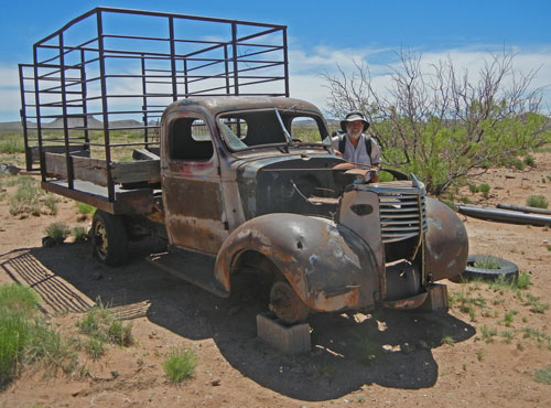 Dilapidated Truck at Abandoned Homestead