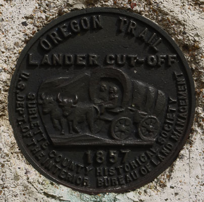 Oregon Trail Lander Cutoff Plaque