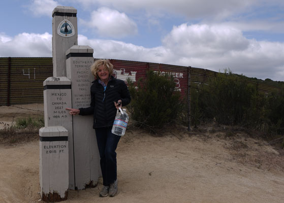 Mary Jean at Mexican Border near Campo