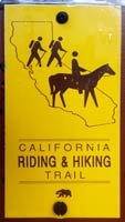 Sign marking the California Riding and Hiking Trail