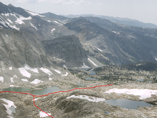 Lakes Basin from East E