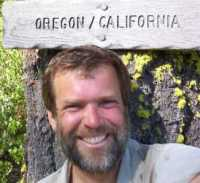 Dan at the California and Oregon Border, 1700 miles into the PCT, 2003.