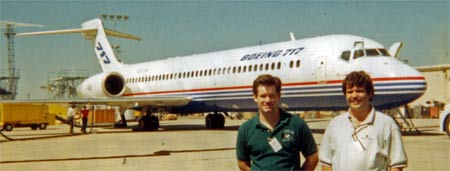 Keith and me in Yuma with the B717
