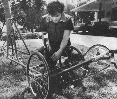 Me with my Human Powered Vehicle