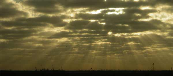 Sunrise on the L1E Levee Florida, 2006