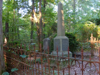 Old family plots in the woods are not rare either.