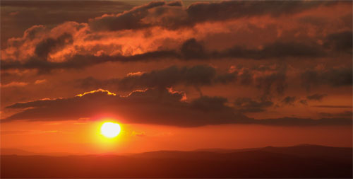 Sunset from Watkin's Tower. Wales, 2009