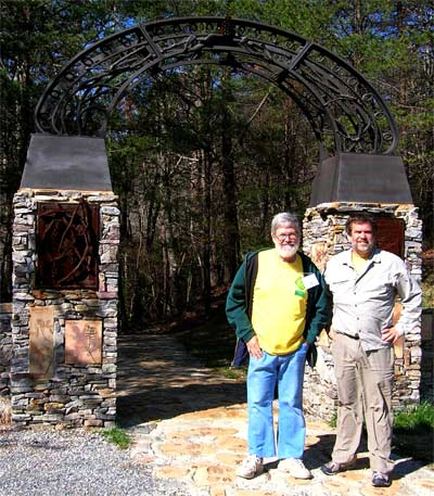 Mother Nature's Son and Me at the Sculpture Gate Pinhoti Trailhead in Cheaha State Park.