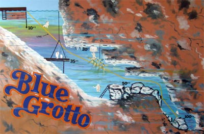 A Cross Section or Map of Blue Grotto