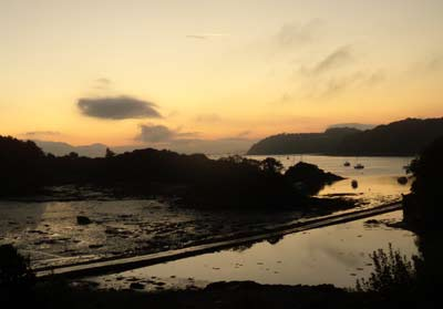 Sunrise from Lisa's place on the Menai Strait. Wales, 2009