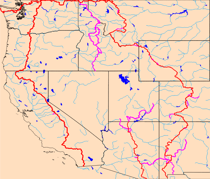 Lakes Rivers - Us map lakes and rivers